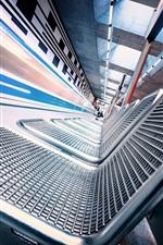 Preview iPhone wallpaper Metro, seats, corridor, speed