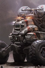 Preview iPhone wallpaper Mining truck vehicle, Halo 5