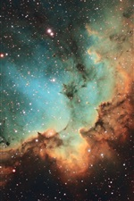 Preview iPhone wallpaper NGC 7380, Wizard Nebula, stars, universe