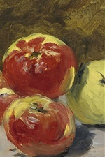 Preview iPhone wallpaper Oil painting, fruit, apples