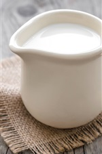 Preview iPhone wallpaper One cup milk, napkin