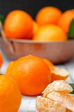 Preview iPhone wallpaper Oranges, fruit, table