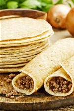 Preview iPhone wallpaper Pancakes, roll, food