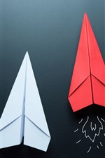 Preview iPhone wallpaper Paper plane, glider, origami