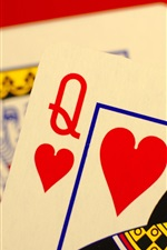 Preview iPhone wallpaper Poker cards, king, lady