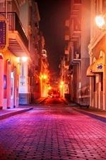 Preview iPhone wallpaper Puerto Rico, San Juan, street, night, houses, lights