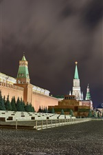 Preview iPhone wallpaper Red Square, Moscow, city night