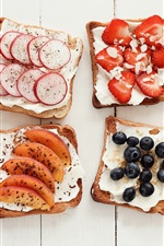 Preview iPhone wallpaper Sandwiches, toast, variety of flavors