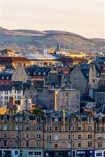 Preview iPhone wallpaper Scotland, Edinburgh, city, mountains
