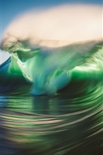 Preview iPhone wallpaper Sea wave, nature power