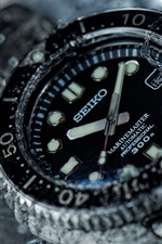 Preview iPhone wallpaper Seiko watch, water