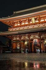 Preview iPhone wallpaper Sensoji Temple, Japan, night