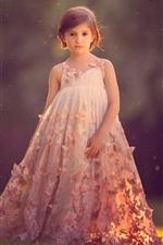Preview iPhone wallpaper Short hair child girl, beautiful skirt