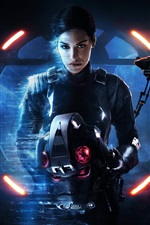 Preview iPhone wallpaper Star Wars: Battlefront II, girl, games