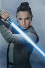 Star Wars: The Last Jedi, Daisy Ridley, espada laser