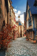 Preview iPhone wallpaper Street, houses, village