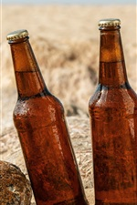 Preview iPhone wallpaper Three bottles beer