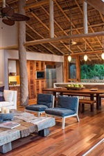 Treehouse in Mexico, villa, terrace, furniture, interior