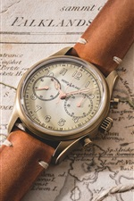 Preview iPhone wallpaper Vintage wrist watch, map