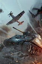War Thunder, tanque e lutador, batalha