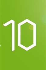 Windows10, fundo verde