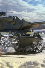 Preview iPhone wallpaper World of Tanks, light tank, snow, winter