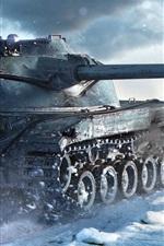 World of Tanks, winter, snow