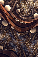 Preview iPhone wallpaper Abstract design, zigzags, circles, brown style