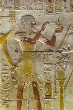 Preview iPhone wallpaper Abydos, Egypt, relief murals