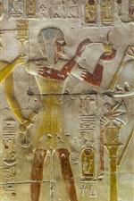 iPhone обои Абидос, Египет, рельефные фрески