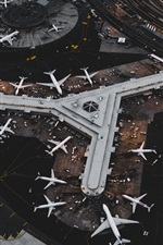 Airport, aircraft, top view