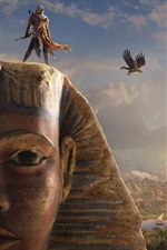 Preview iPhone wallpaper Assassin's Creed: Origins, Sphinx, Egypt