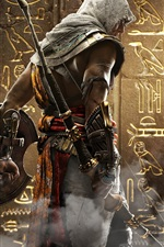 Preview iPhone wallpaper Assassin's Creed: Origins, Ubisoft, back view
