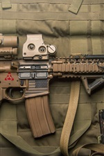 Preview iPhone wallpaper Assault rifle, bullets