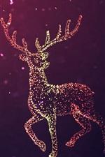 Preview iPhone wallpaper Beautiful deer, light circles, abstract design