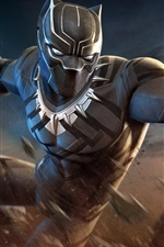 Preview iPhone wallpaper Black Panther, hands, superhero