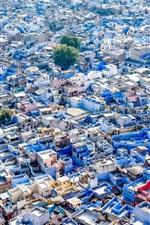 미리보기 iPhone 배경 화면 블루 시티, 인도, 조드 푸르, 주택