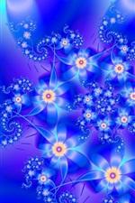 Flores abstratas estilo azul