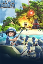 Preview iPhone wallpaper Boom Beach, mobile games