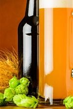 Preview iPhone wallpaper Bottle, hops, beer, mug