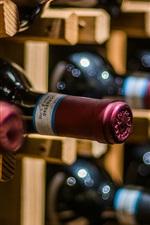 Bottles, wine, blurry
