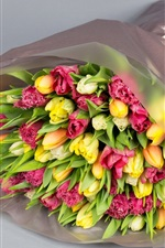 Bouquet, flowers, tulips, gift
