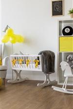 Preview iPhone wallpaper Children's room, furniture, interior