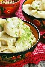 Preview iPhone wallpaper Chinese delicacy, dumplings, spices