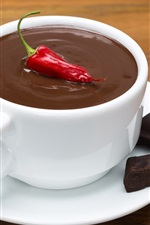 Preview iPhone wallpaper Chocolate, red pepper, cup