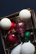 Preview iPhone wallpaper Christmas balls, decorations