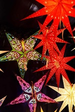 Preview iPhone wallpaper Christmas market, stars, decoration
