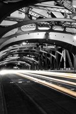 Preview iPhone wallpaper City, night, bridge, light lines