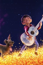 Preview iPhone wallpaper Coco, 2017 movie, dog, Miguel