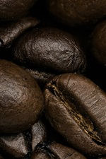 Coffee beans macro photography, grain